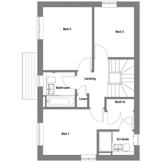 The floorplan of The Merton first floor