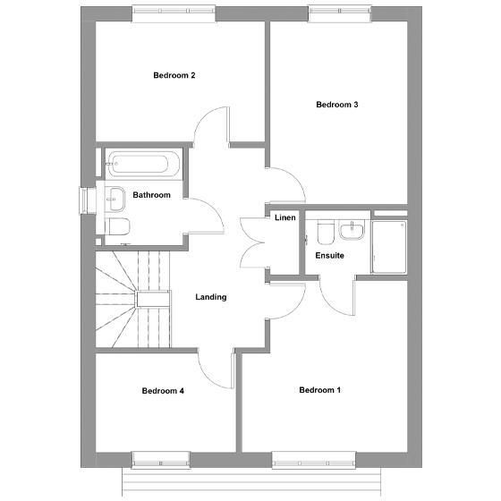 The floorplan of The Permain first floor