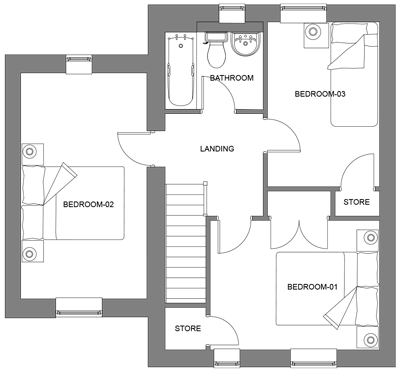 The Pine first floor floor-plan