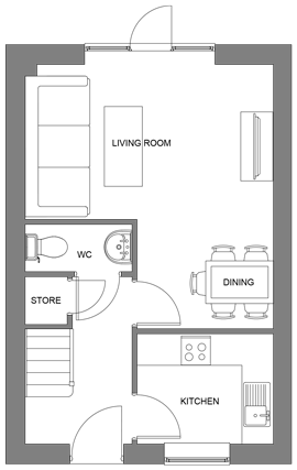 The Pine ground floor floor-plan