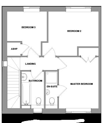 The Porter Floorplan - First Floor