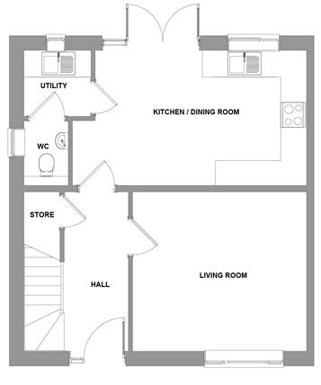 The Porter Floorplan - Ground Floor