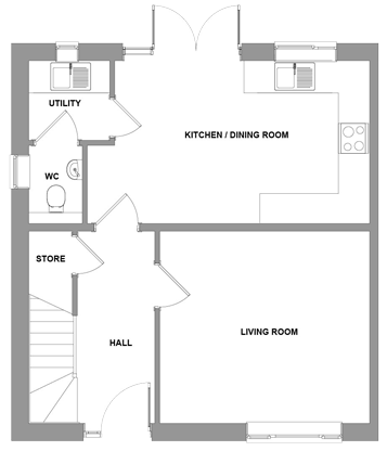 The Porter Floorplan - Ground Floor