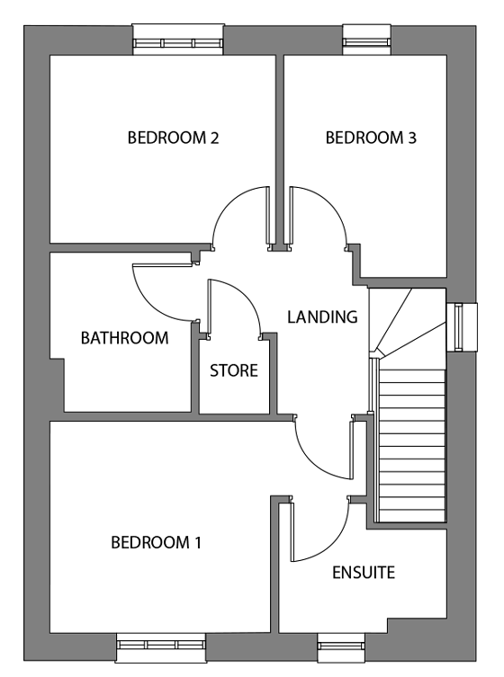 The Shapwick first floor floor-plan