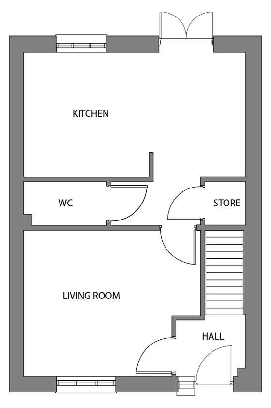The Shapwick ground floor floor-plan