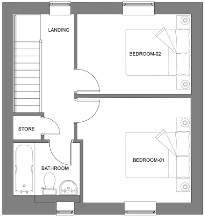 The Sycamore first floor floor-plan