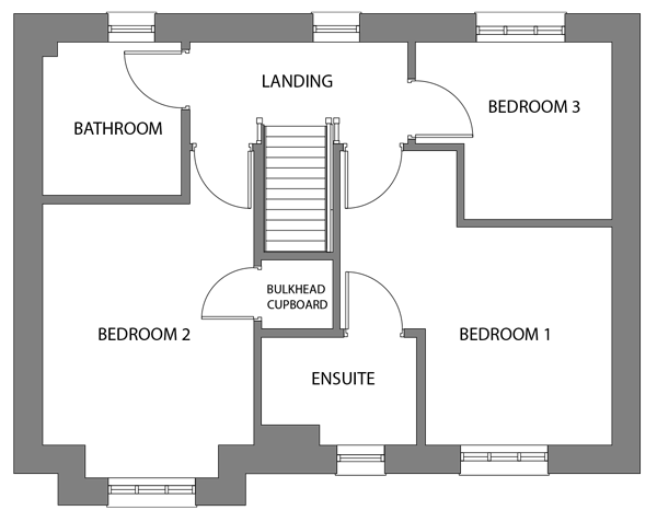 The Tor first floor floor plan
