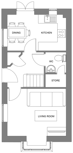 The Yew ground floor floor-plan