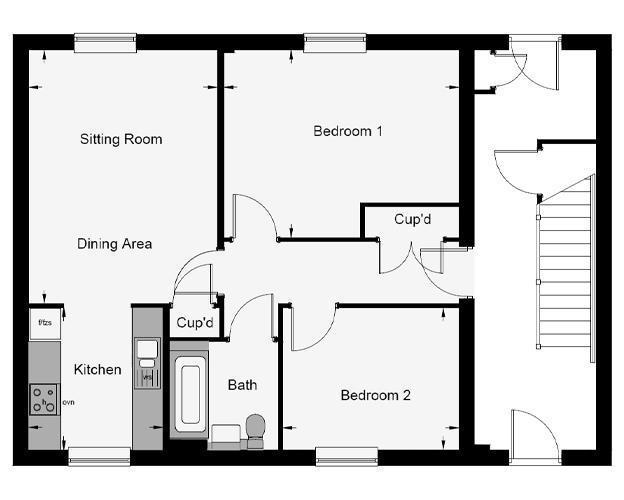 Oakley Court floor plan
