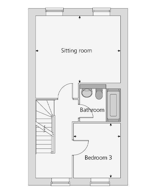 The Polesworth floor plan first floor