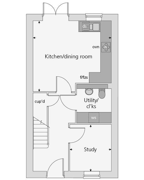The Polesworth floor plan ground floor