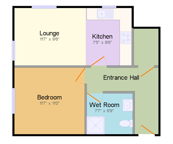 Wedgwood Court Apartment A floor plan