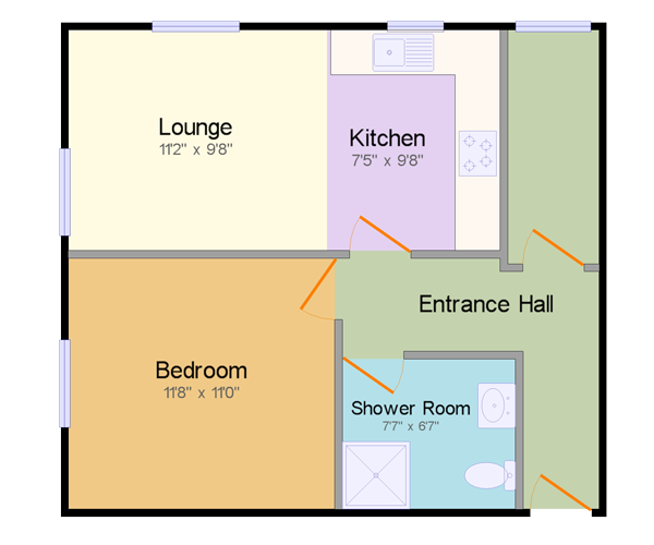 Wedgwood Court Apartment C floor plan