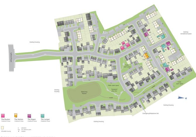 Site plan for Bidford Leys