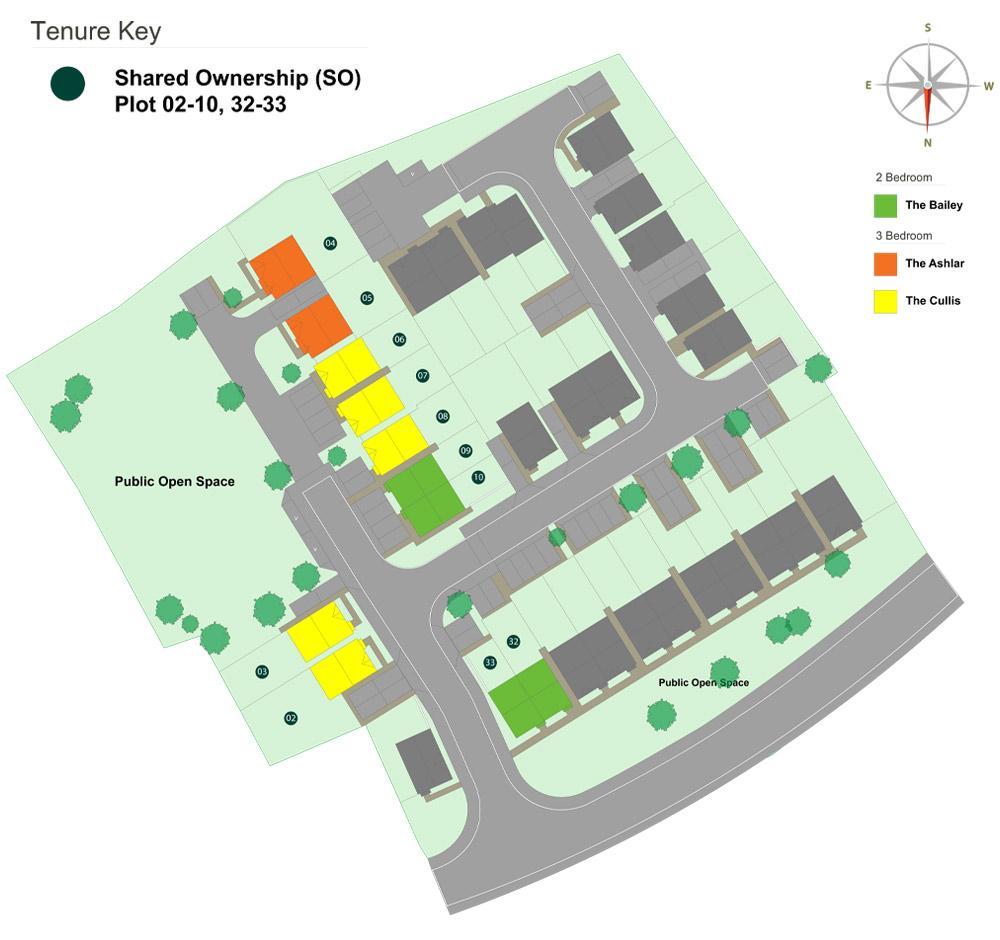 Siteplan for the Castle Reach development in Tenbury Wells