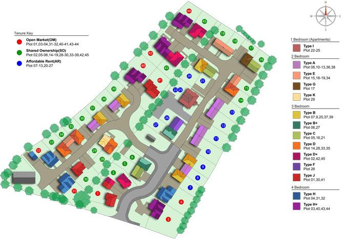 Heritage Point site plan with key