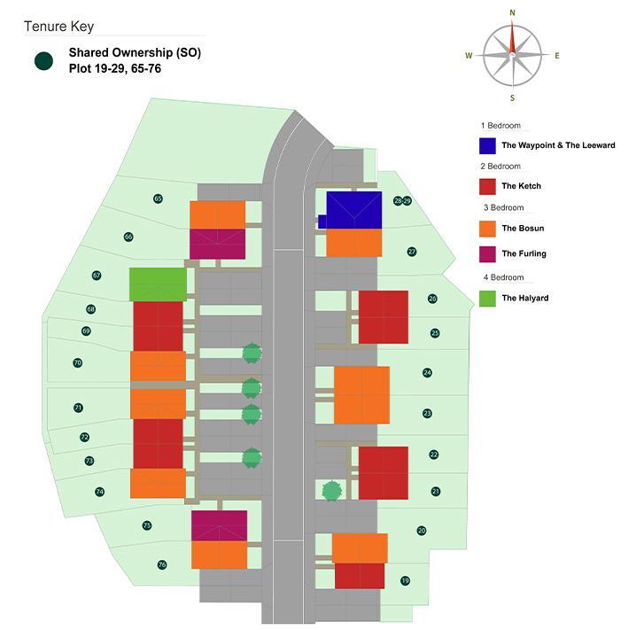 Site plan for Sanctuary Homes' High Elms Park Development