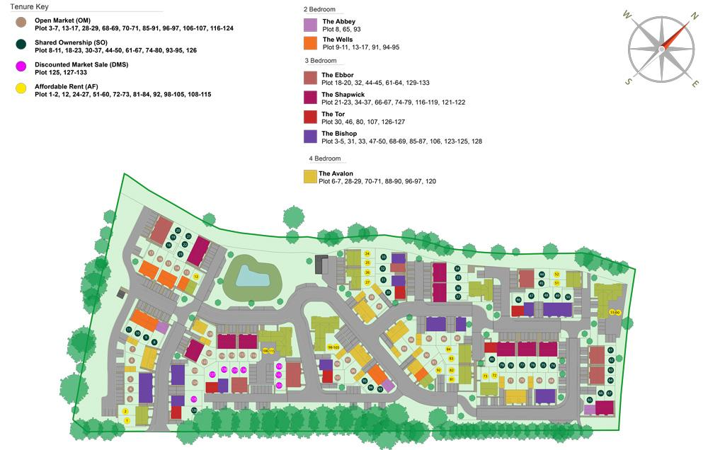 Site plan of our Kingsfield development in Glastonbury