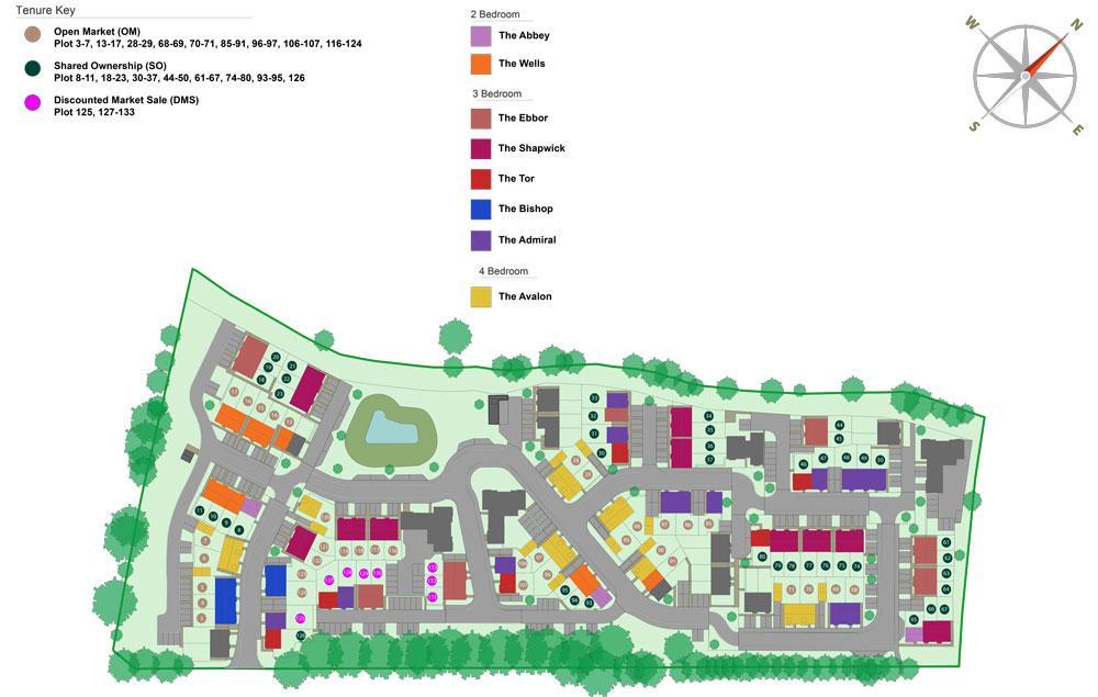 Site plan of our Kingsfield development in Glastonbury