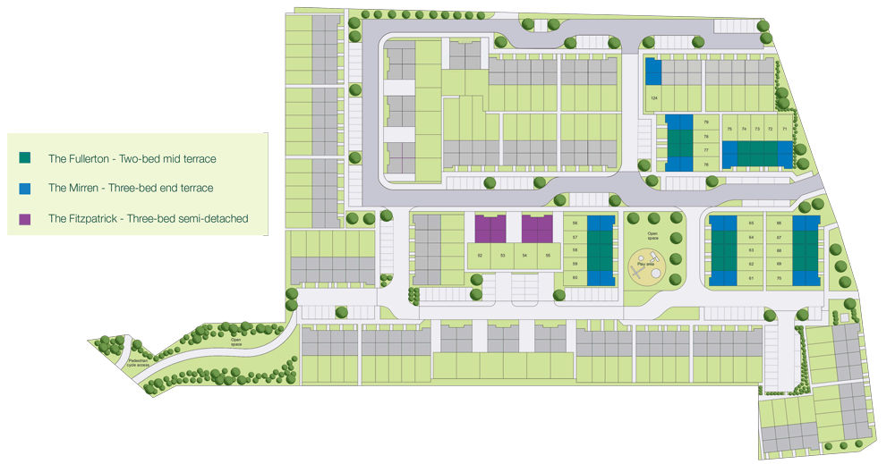 Site plan for the Love Street development