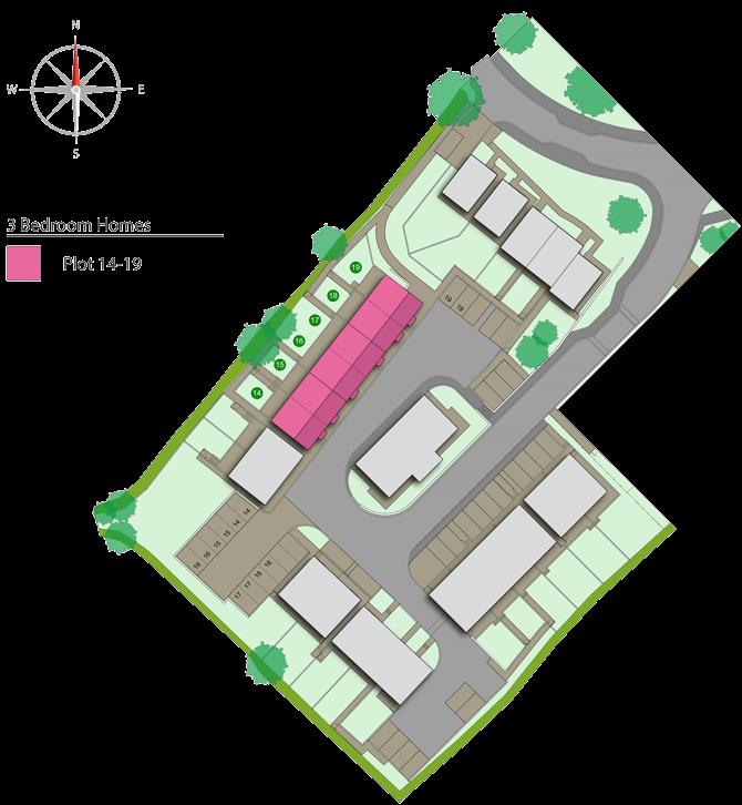 Site plan of the Parc an Bre development