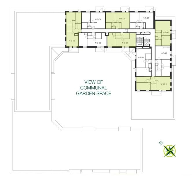 The Quadrangle, Hornsey fifth floor site plan