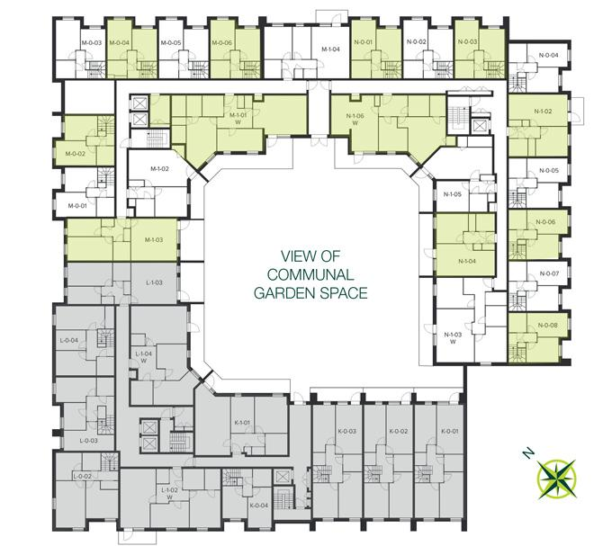 The Quadrangle, Hornsey first floor site plan
