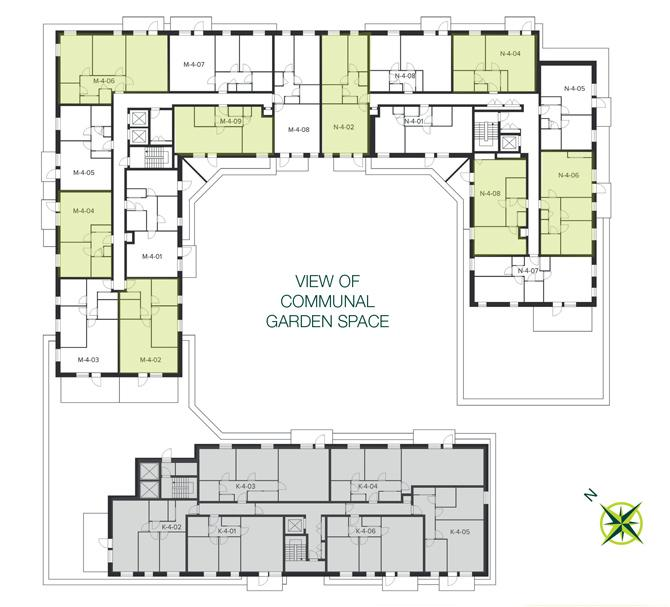 The Quadrangle, Hornsey fourth floor site plan