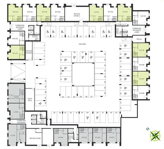 The Quadrangle, Hornsey ground floor site plan