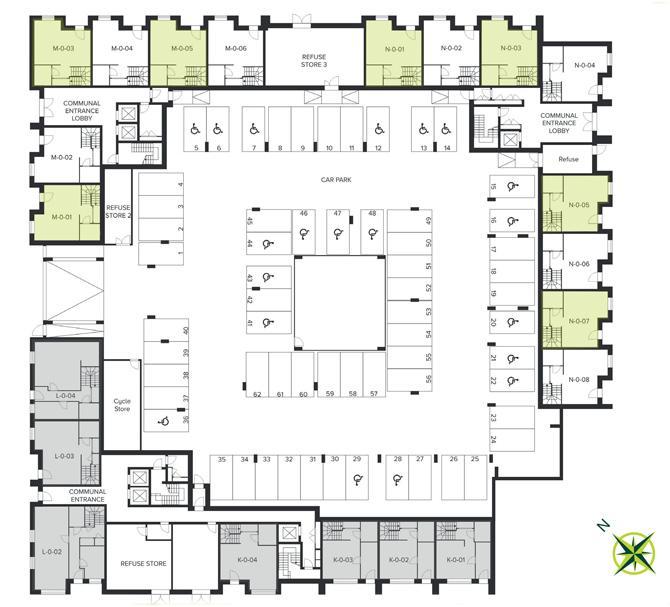 The Quadrangle, Hornsey ground floor site plan