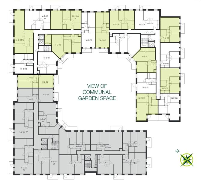 The Quadrangle, Hornsey second floor site plan