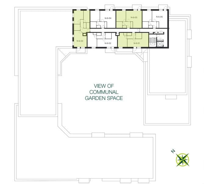 The Quadrangle, Hornsey sixth floor site plan