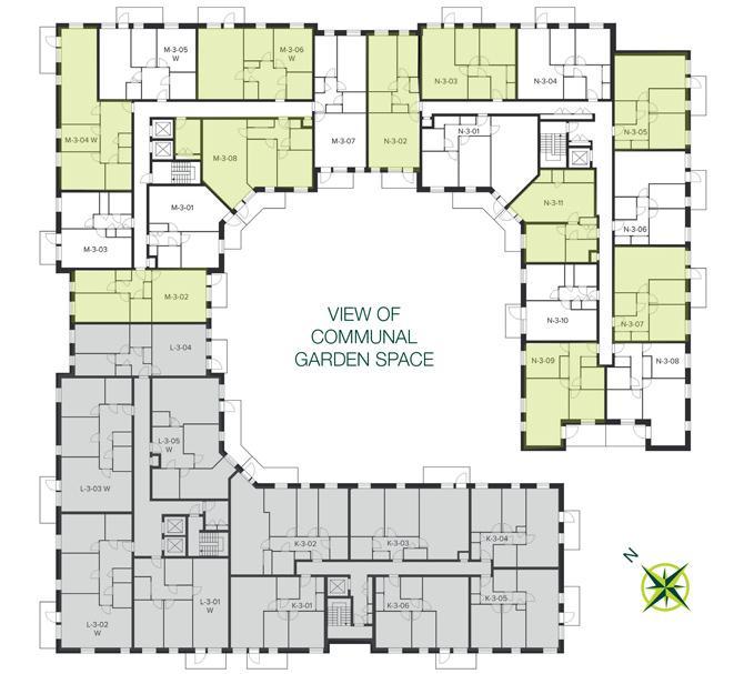 The Quadrangle, Hornsey third floor site plan