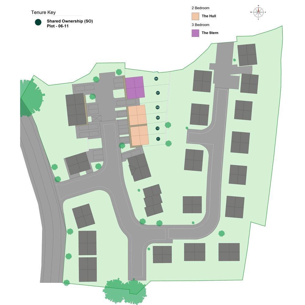 Site plan of The Boatyard development
