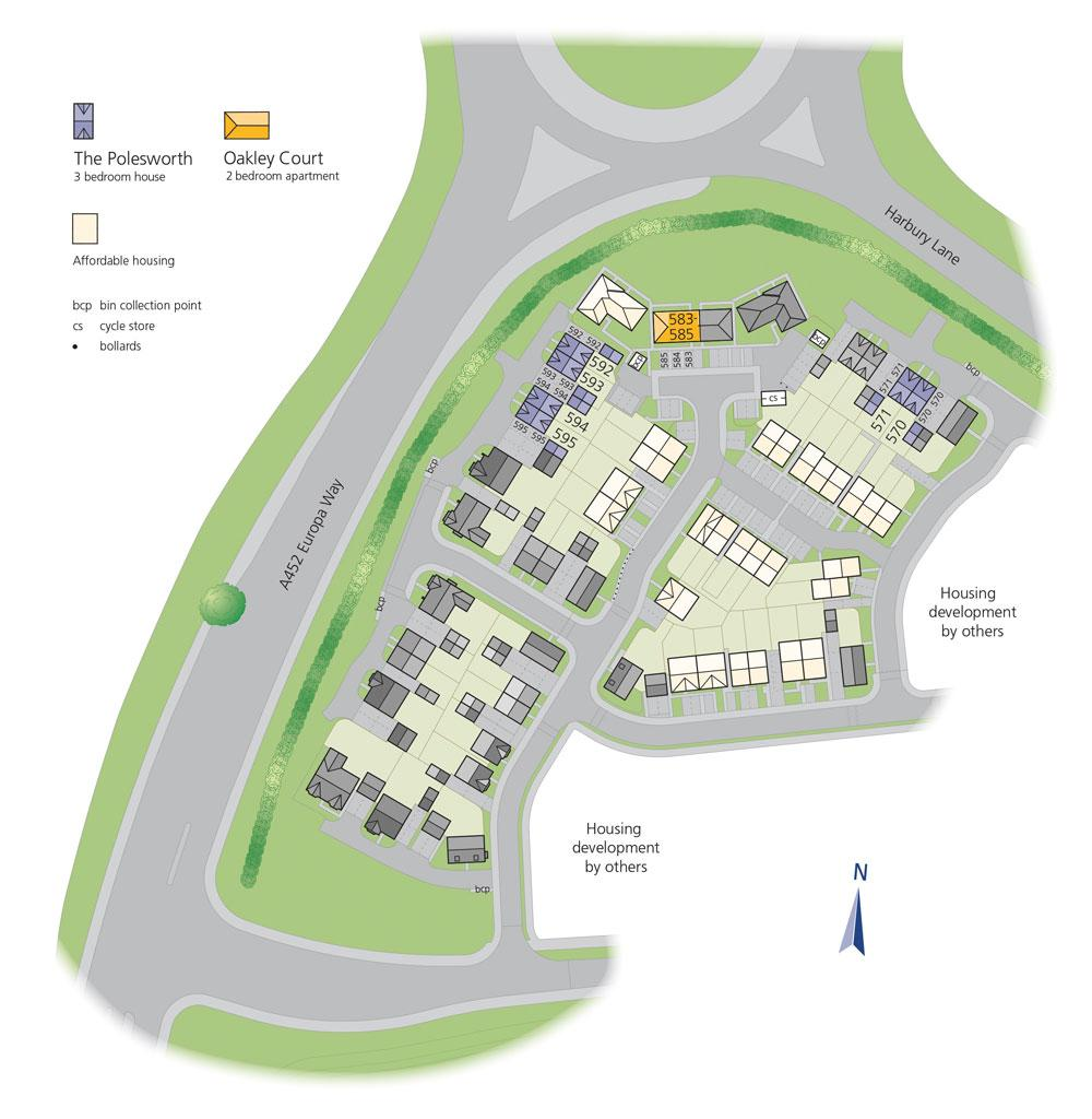 Warwick Gates site plan