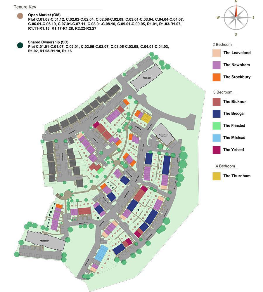 Watling Gate development siteplan 2020