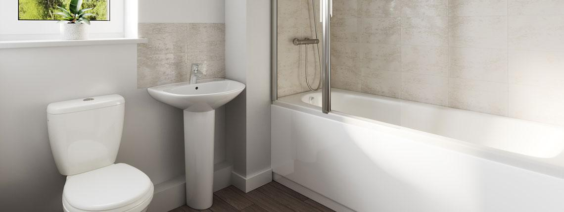 Example CGI Bathroom at Chestnut Meadows