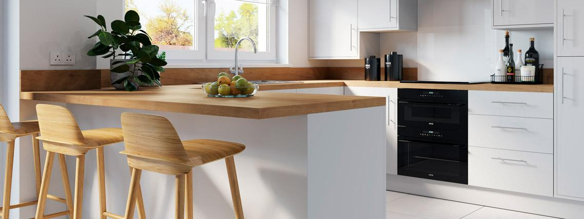 CGI example kitchen from The Avalon at Kingsfield, Glastonbury