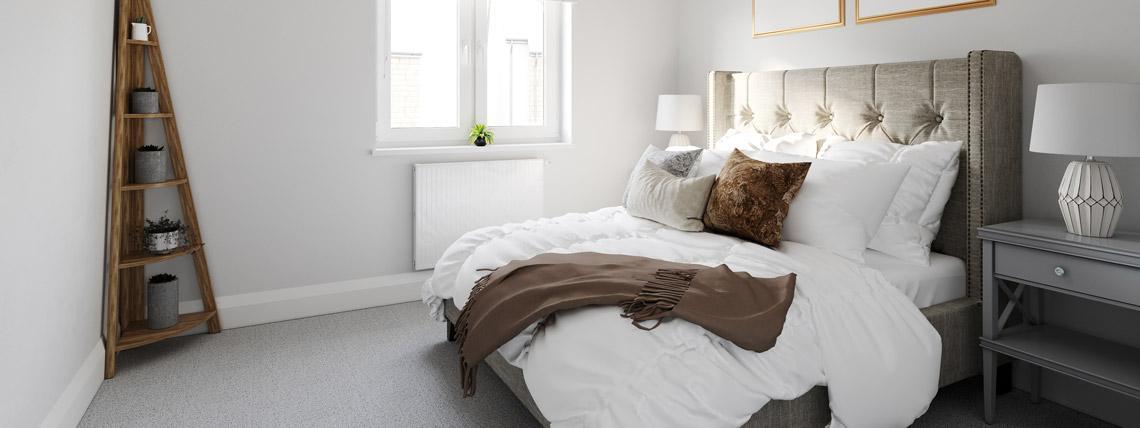 Internal CGI of The Bishop bedroom at Kingsfield