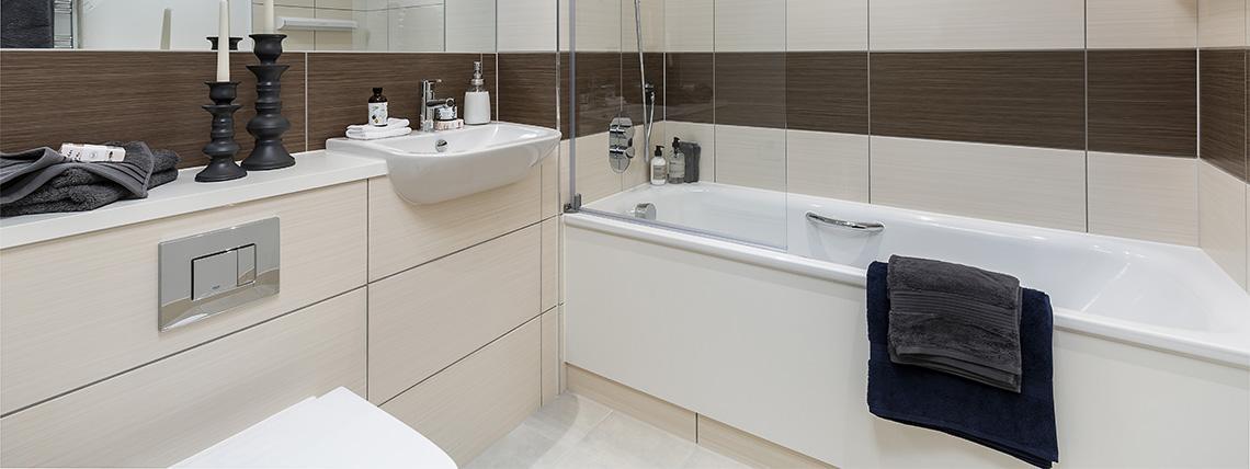 Bathroom at the Quadrangle Development.