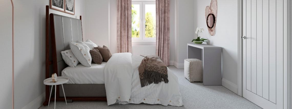 Sanctuary Homes High Elms development example of a bedroom