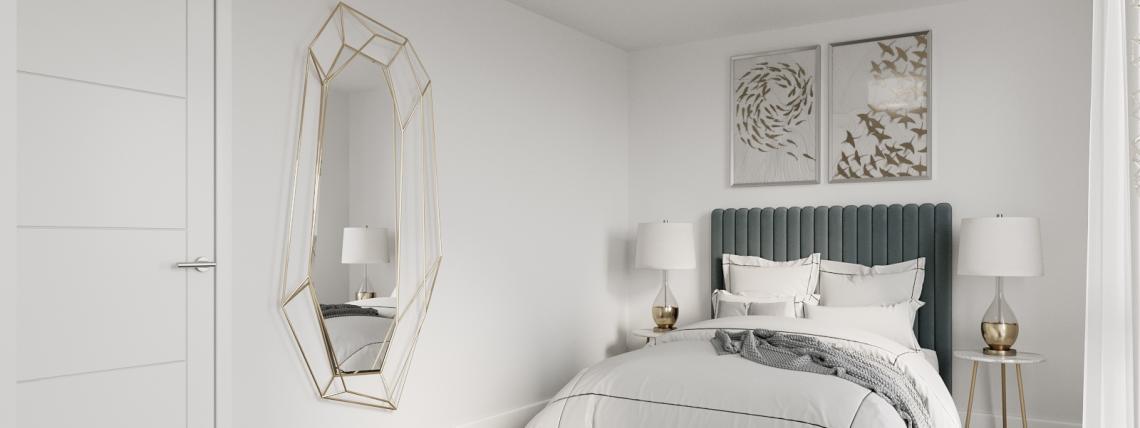 Watling Gate show home bedroom