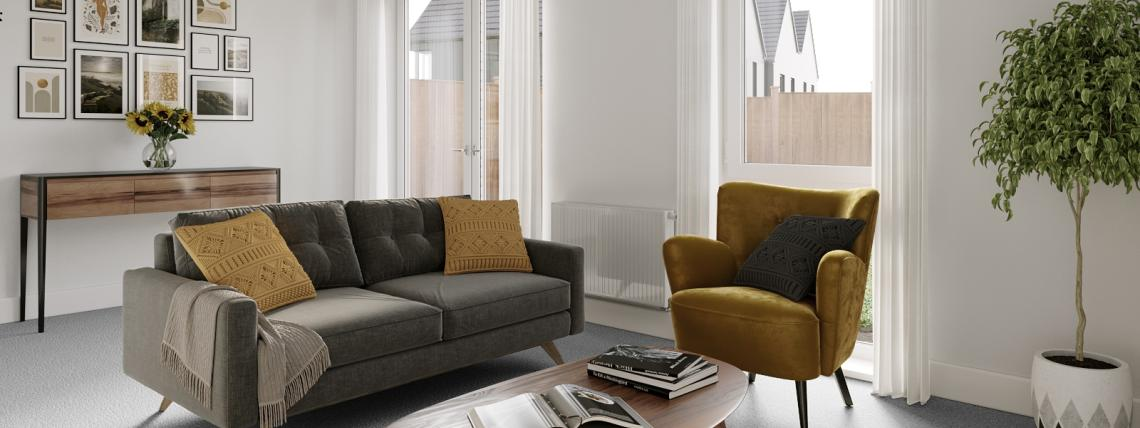 Watling Gate show home lounge