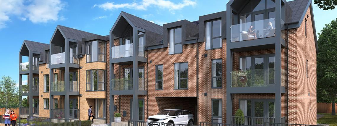 CGI showing The Westcliffs development in Essex