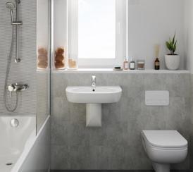 Internal CGI of The Bishop bathroom at Kingsfield