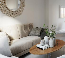 Internal CGI of The Bishop living room at Kingsfield