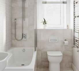 Internal CGI of an example bathroom at our Penny Fields development in Frating.