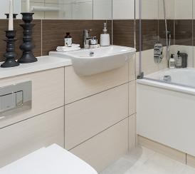 Bathroom at the Quadrangle Development.