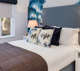 Bedroom at the Quadrangle Development.