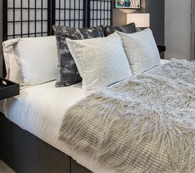 Bedroom at the Quadrangle Development.